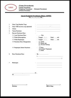 Surat Permohonan Perjalanan Dinas Formulir Hasil Pencarian