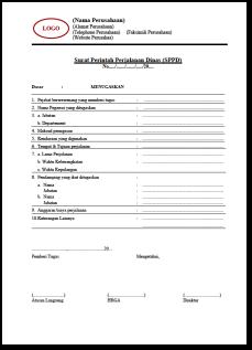 Formulir Surat Perintah Perjalanan Dinas 2 Download